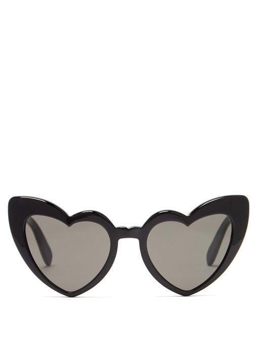 045a2490be577 Saint Laurent Loulou 54Mm Heart Sunglasses - Black  Grey
