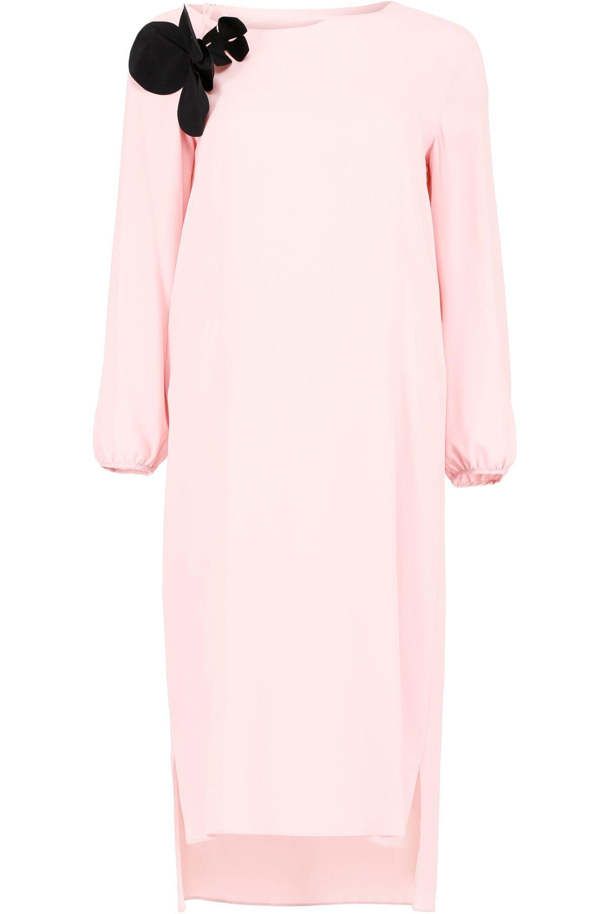 2fe4a719b9f9a4 Marni Tassel Detail Midi Dress In Pink | ModeSens