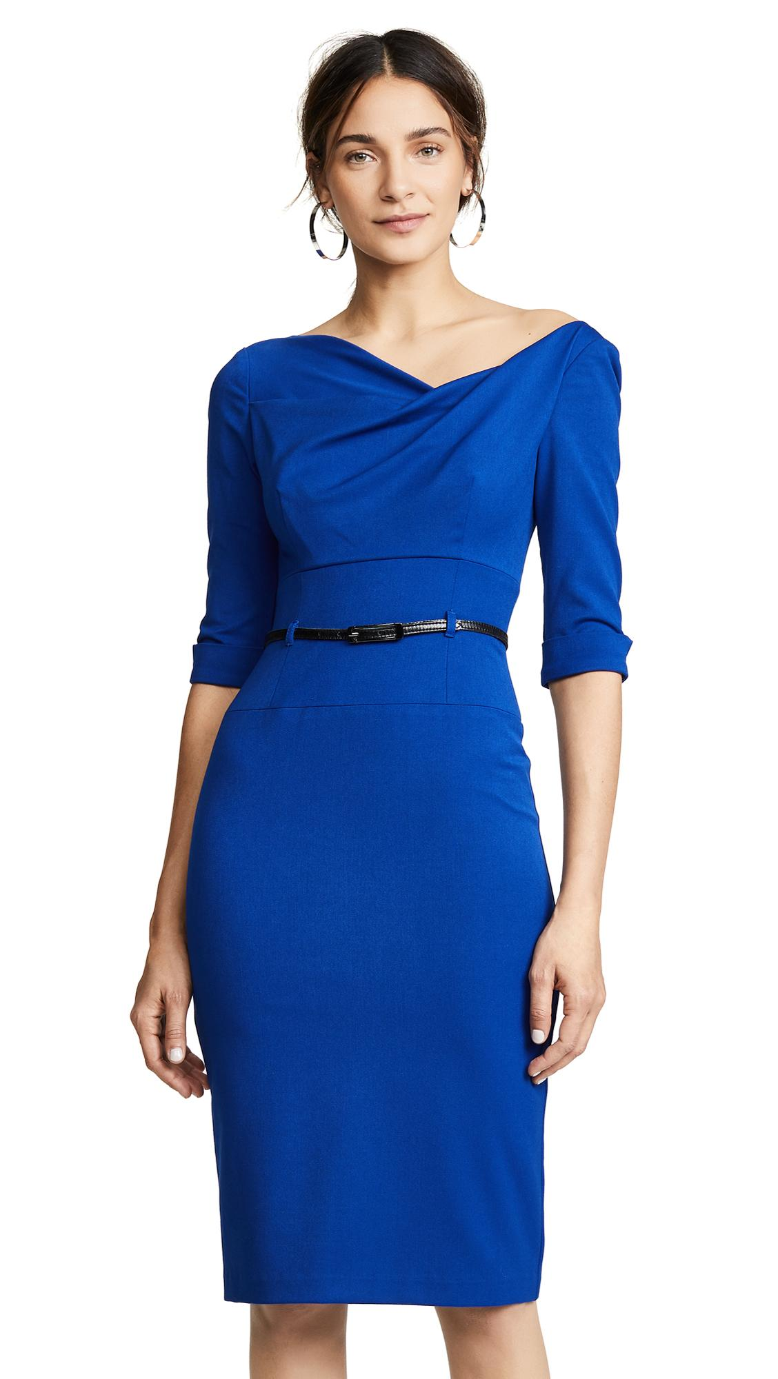 2ced023a977 Black Halo 3 4 Sleeve Jackie O Dress In Cobalt