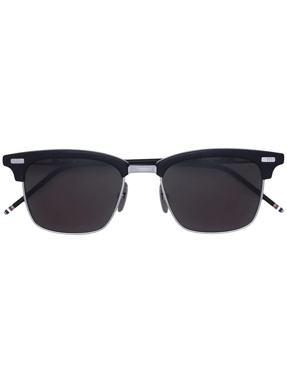3bae2abd097 Thom Browne Black Square Frame Sunglasses