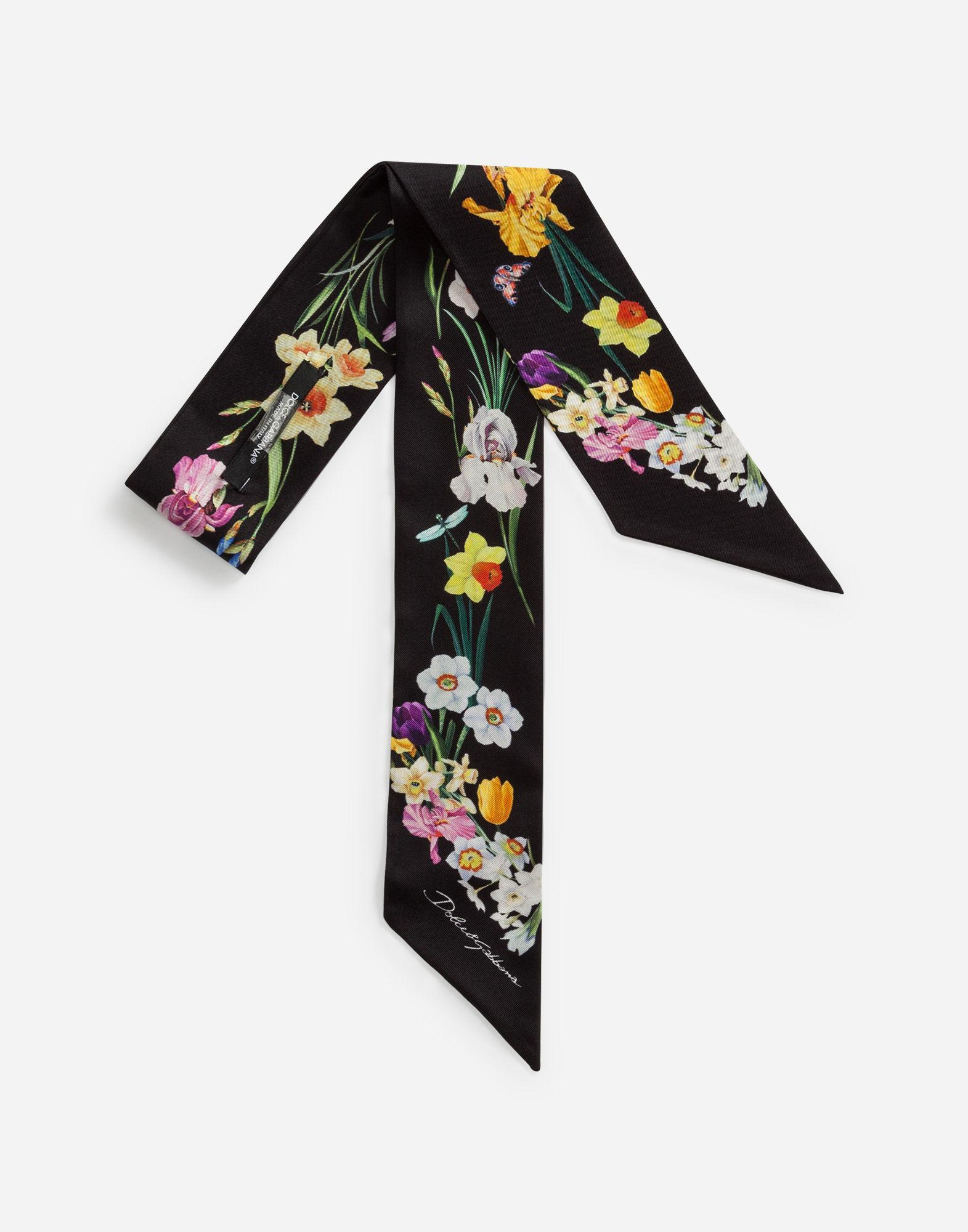 d26956b539f Dolce   Gabbana Printed Silk Headband In Floral Print