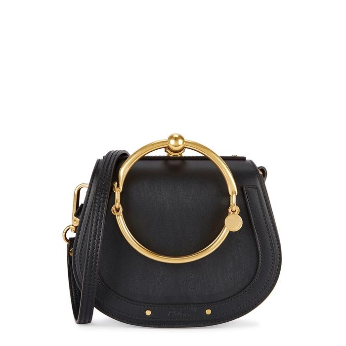 c9fec8e8e4ac ChloÉ Nile Small Black Leather Cross-Body Bag