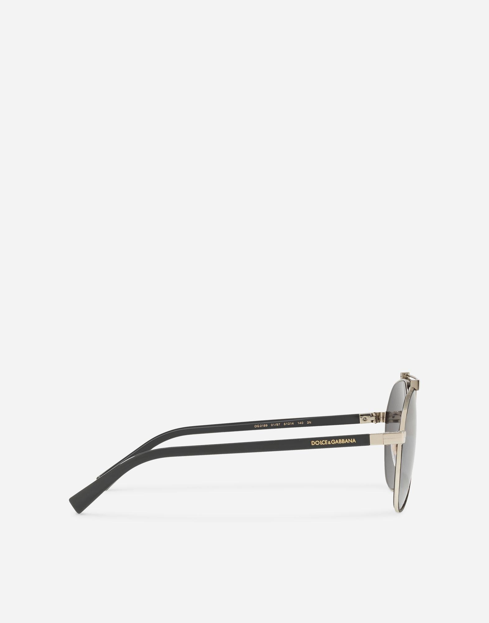 d6015471df9e Dolce & Gabbana Shiny Metal Aviator Sunglasses In Matt Black/Shiny Light  Gold