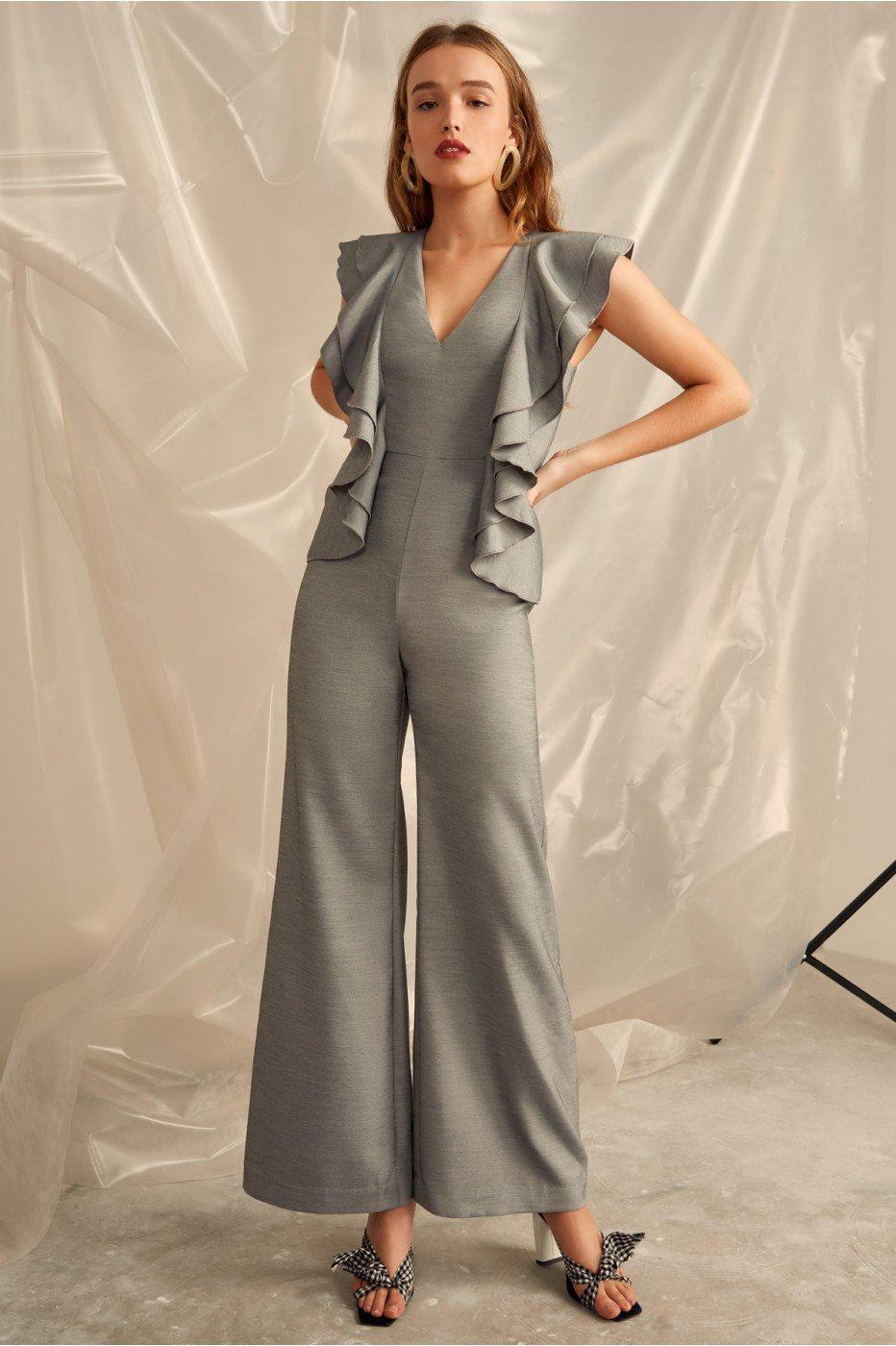 8b39cd9ce5 C Meo Collective You Or Me Jumpsuit In Grey Marle