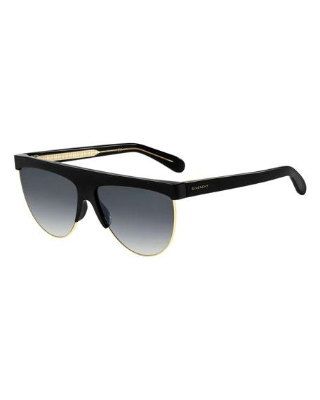954e39f815 Givenchy 62Mm Oversize Flat Top Sunglasses - Black  Gold