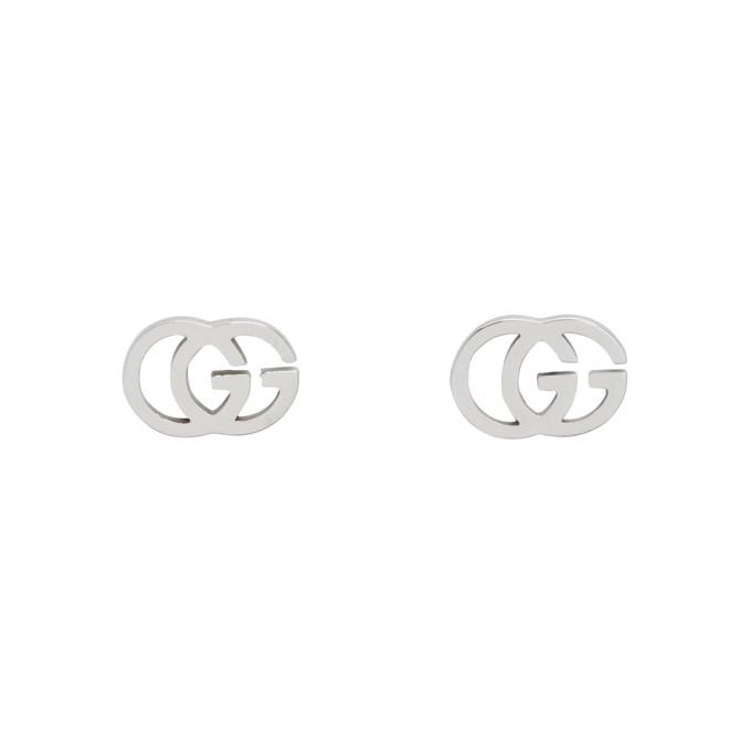 cf9954474 Gucci Silver Gg Tissue Stud Earrings In 4001 Silver | ModeSens