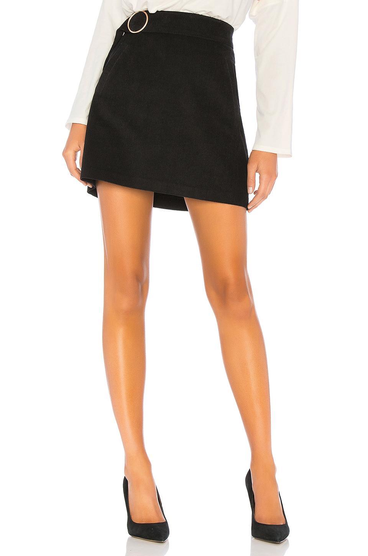 30750b6fea J.O.A. Belted Corduroy Mini Skirt In Black