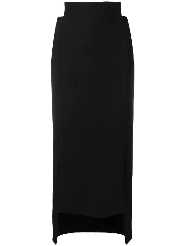 0b01d3128 Maison Flaneur Fitted Asymmetric Skirt - Black   ModeSens