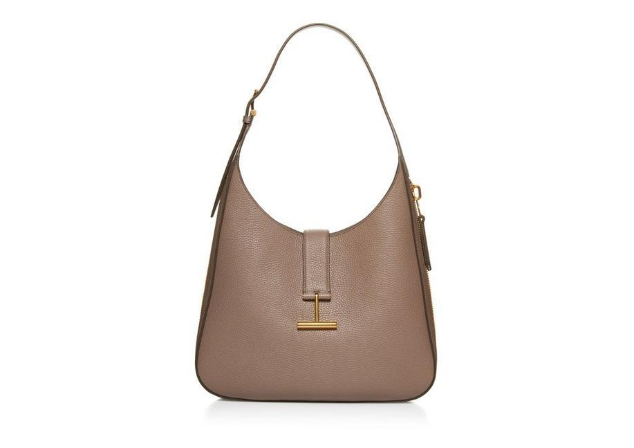 3b3d6d8a57 Tom Ford Tara Grain Lux Calf Shoulder Hobo Bag In Taupe