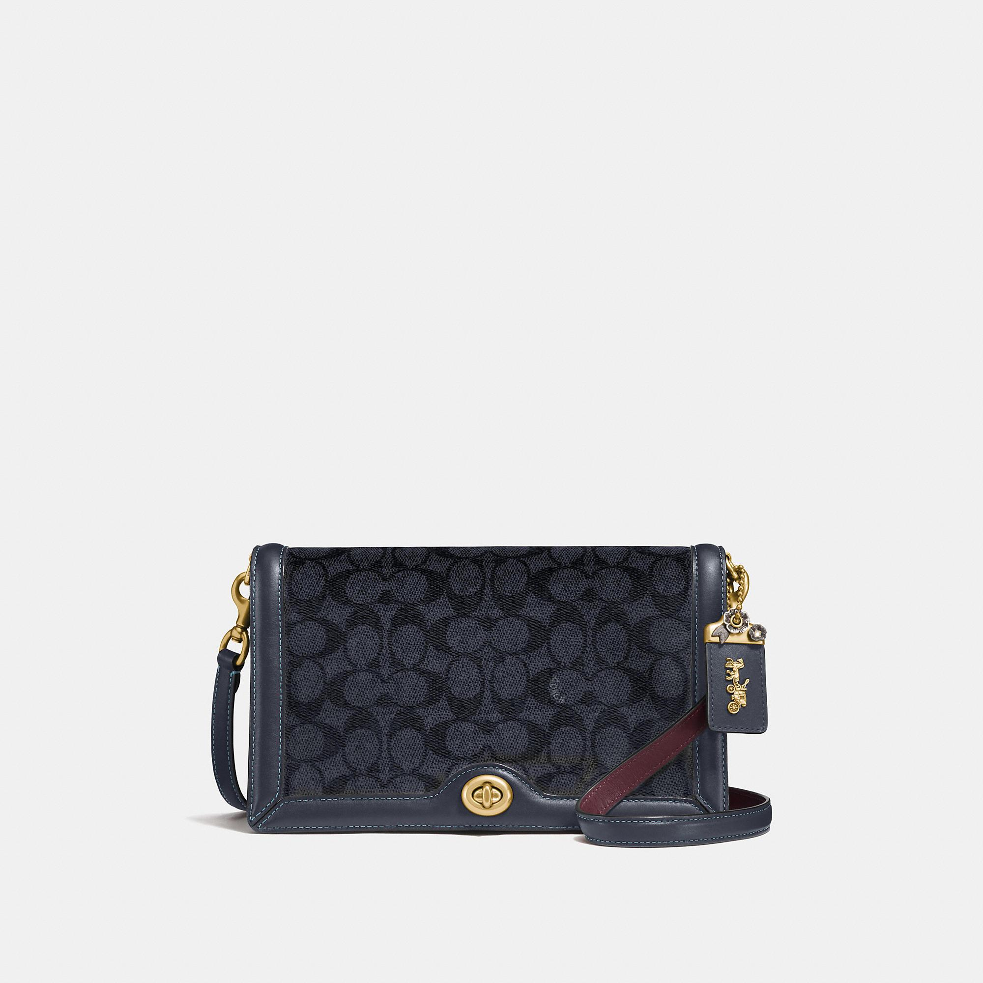 82c8c089e0fb0d Coach Riley In Signature Canvas In Charcoal/Midnight Navy/Brass ...