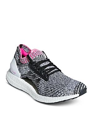 46755e2fd81 Adidas Originals Women s Ultraboost X Primeknit Lace Up Sneakers In White   Black  Shock Pink