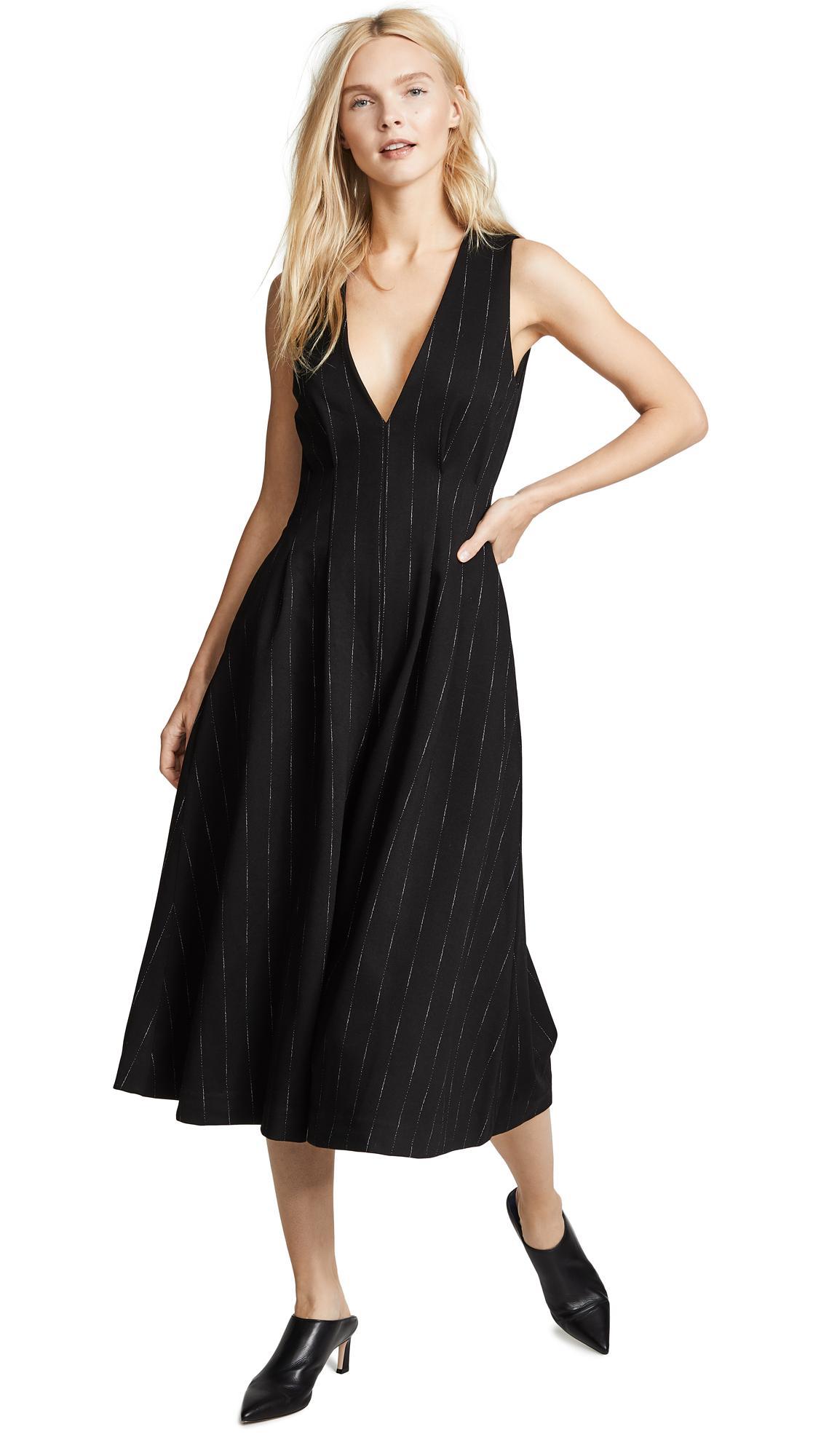 bf5fdd01874e Vatanika Pinstripe Jumpsuit In Black