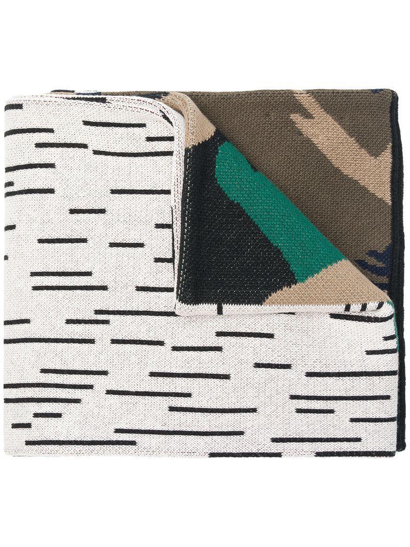 a6fa93ede Gosha Rubchinskiy Jacquard Knitted Camouflage Scarf - Green