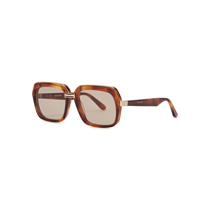 f7cd747ab0 Celine Tortoiseshell Square-Frame Sunglasses In Havana