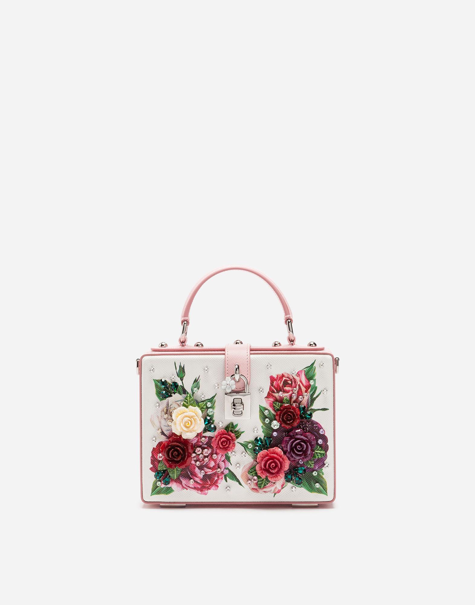 37d477a1ec Dolce & Gabbana Dolce Box Bag In Dauphine Calfskin In Multicolor ...