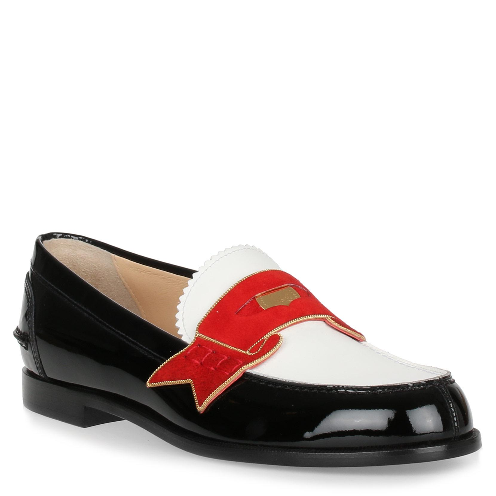 5517fd91146 Moana Suede And Chain-Trimmed Leather Loafers in Black