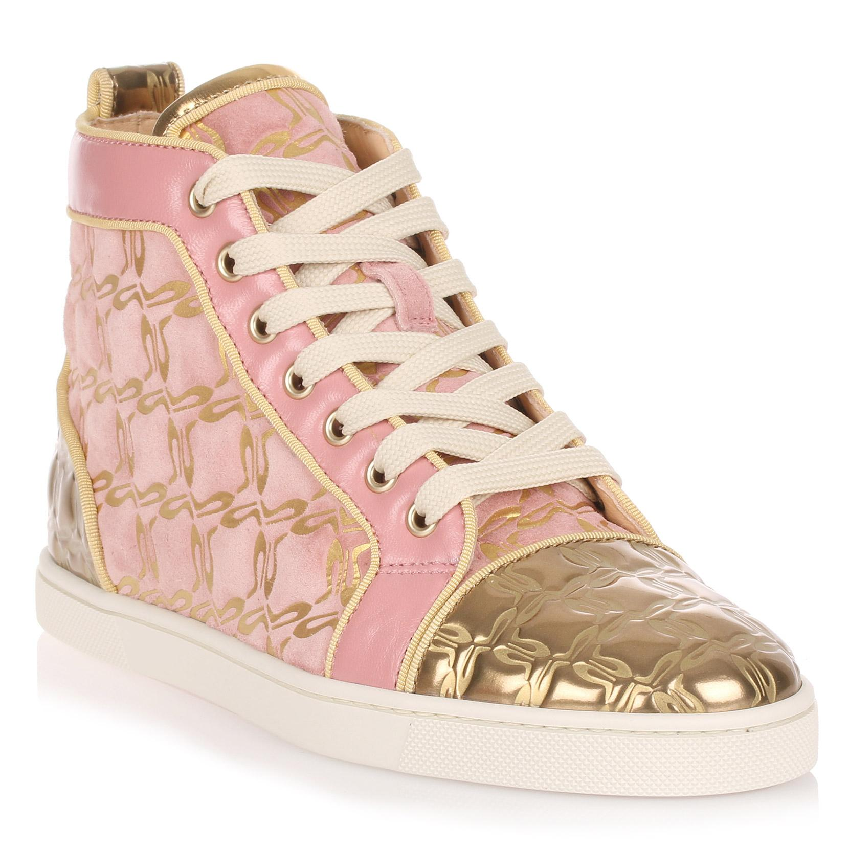reputable site eec35 92341 Bip Bip Pink And Gold Suede Sneaker