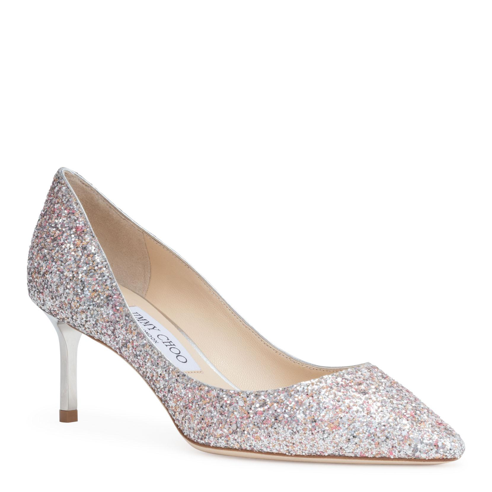 c013248cbe77 Jimmy Choo Romy 60 Viola Mix Speckled Glitter Pointy Toe Pumps In Metallic