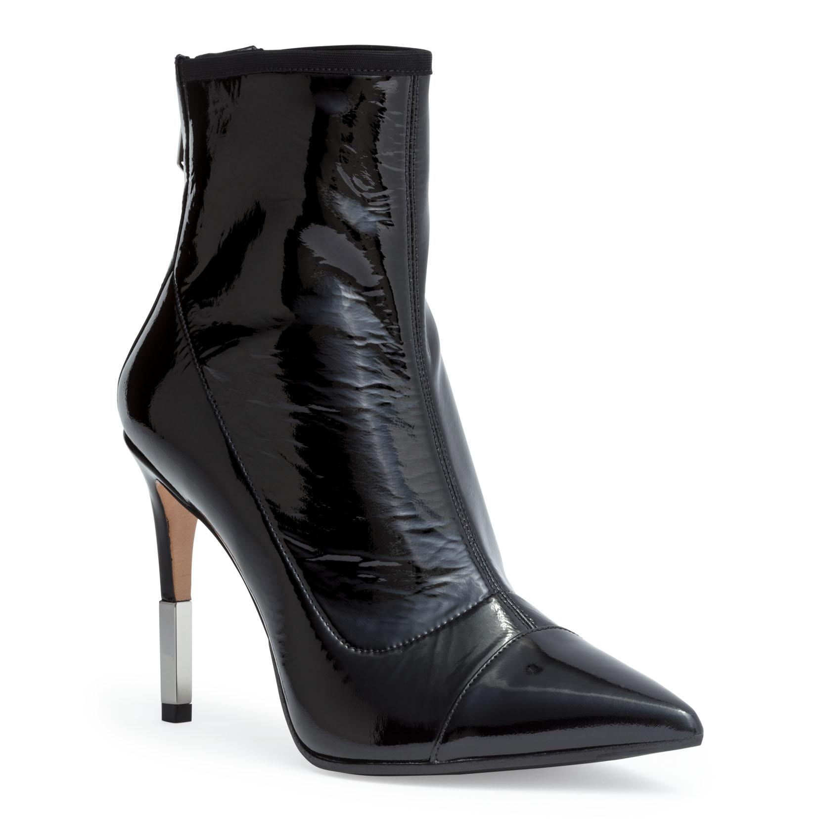 Balmain 110Mm Blair Patent Leather Ankle Boots In Black