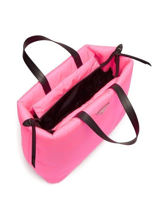 b039c77eb2c5 Prada Logo-Embellished Padded-Nylon Tote Bag In Pink | ModeSens