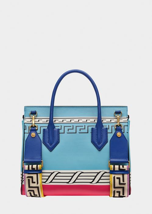 5a65c46c23 Versace Magna Grecia Pop Blue Palazzo Empire Bag In Print