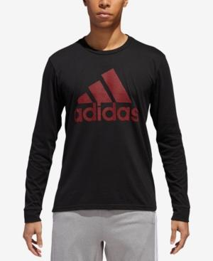 176c4c5f Adidas Originals Adidas Men's Climalite Logo Long-Sleeve T-Shirt In Black