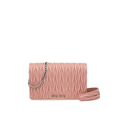 1bc0ae78455f Miu Miu Miu DÉLice Leather Bag In Orchid Pink