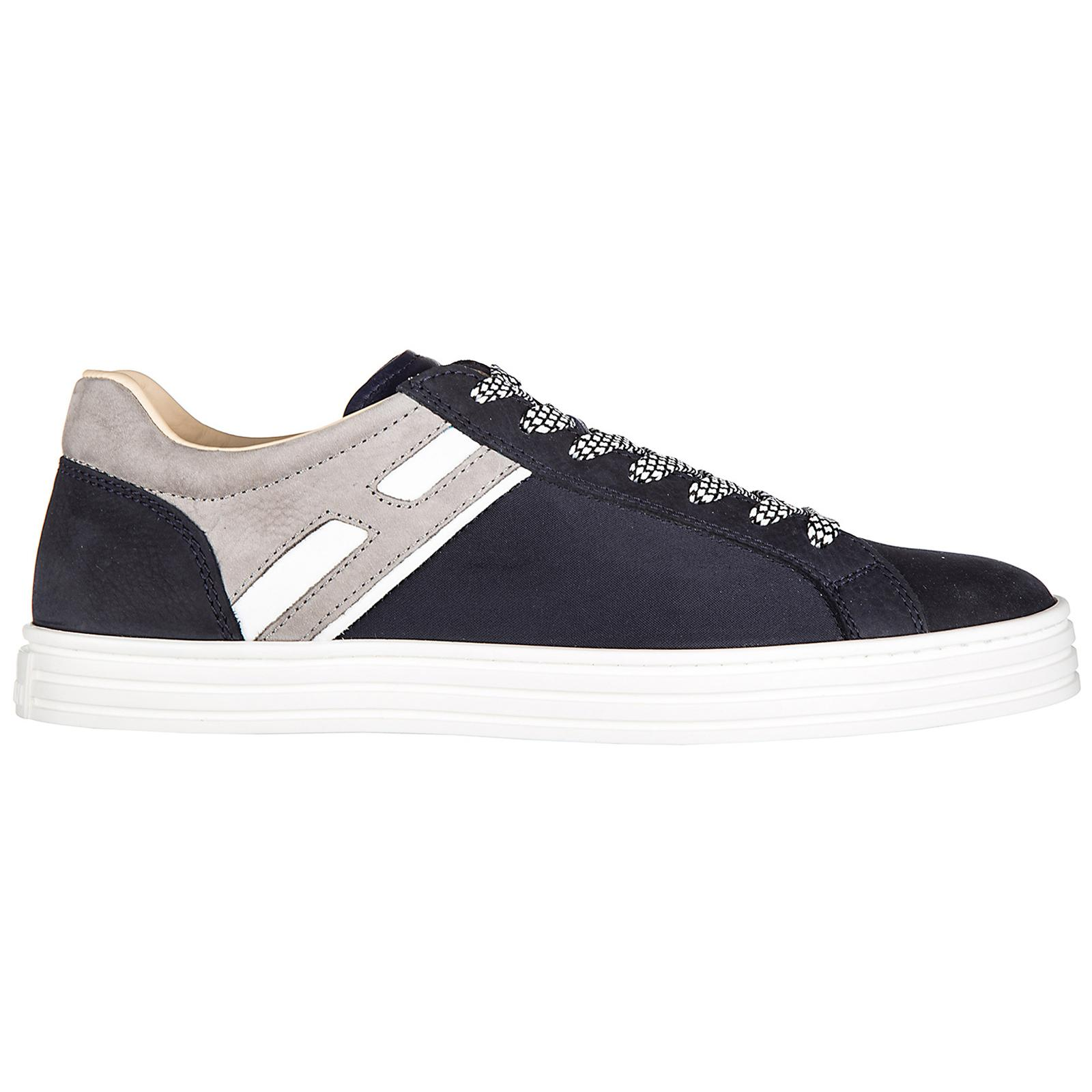 Hogan Rebel Men's Shoes Suede Trainers Sneakers R141 Basso H Ombra ...