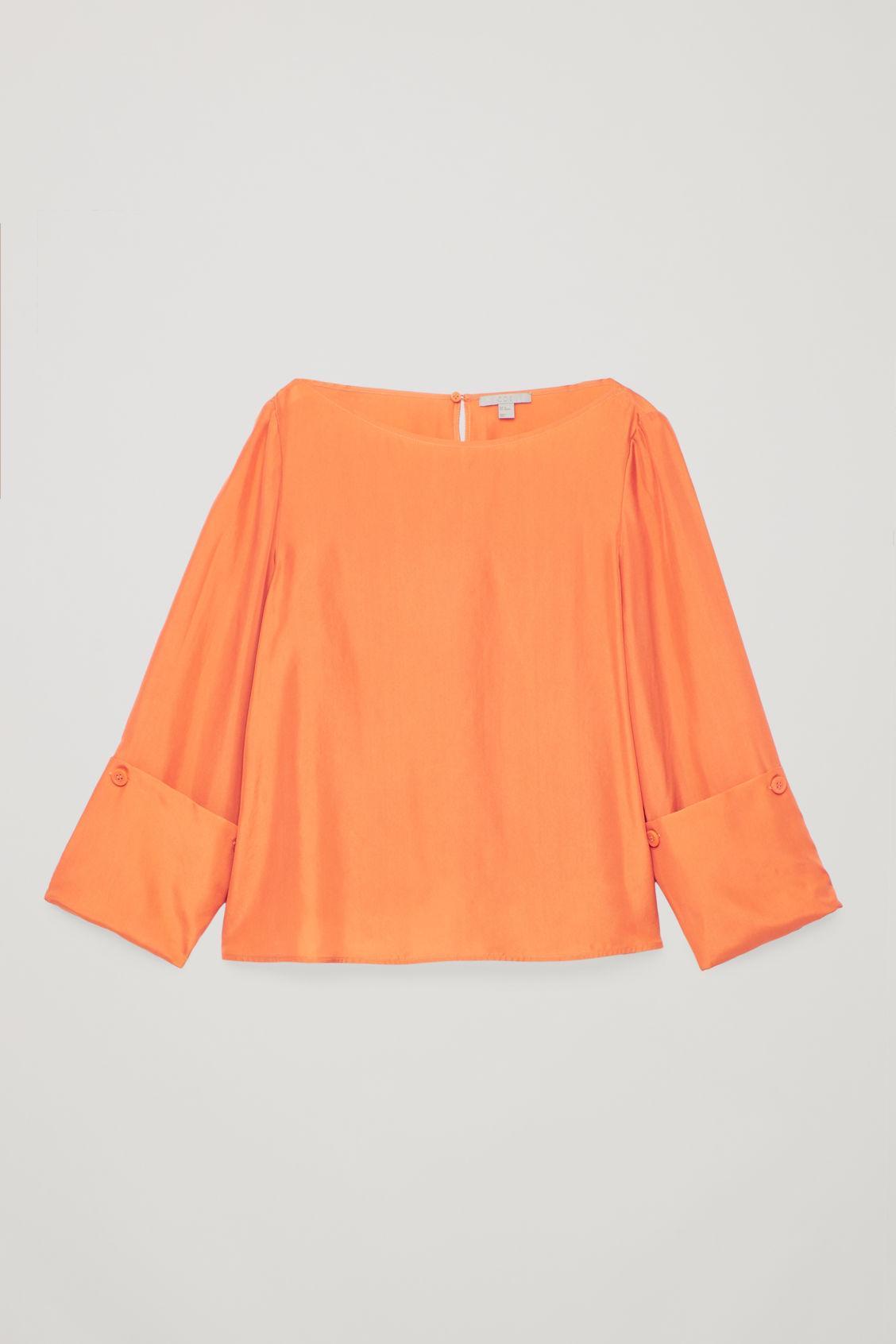 76ba7328925ead Cos Changeable Silk Blouse In Orange