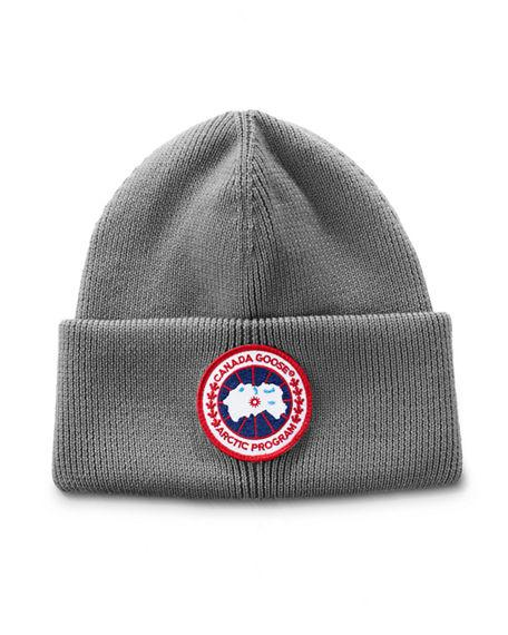 6b38afef Canada Goose Men's Arctic Disc Toque Knit Beanie Hat In Heather Grey ...