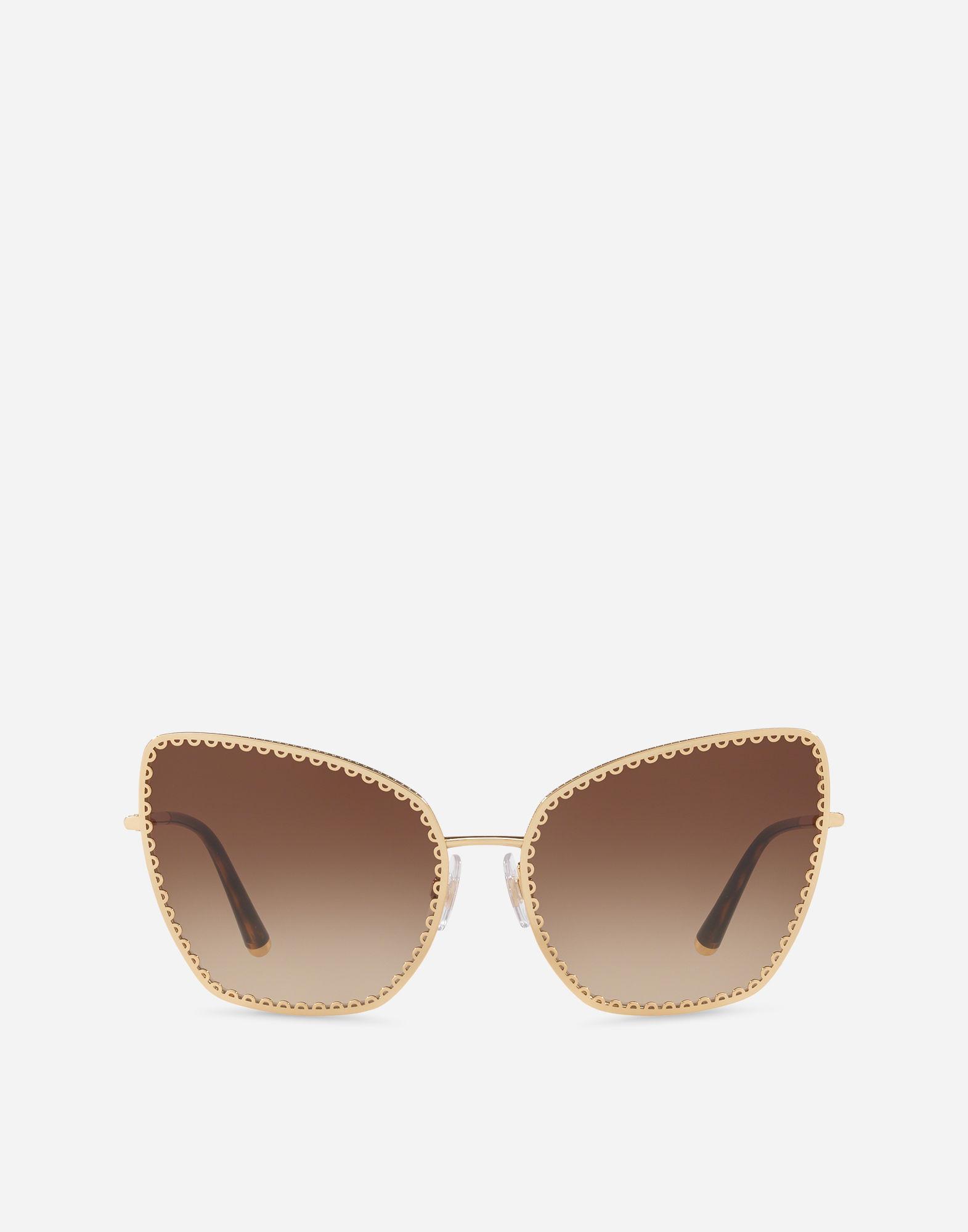 "9543c48e43ad Dolce   Gabbana Cat-Eye Sunglasses With ""Cuore Sacro"" Metal Trim In Shiny"