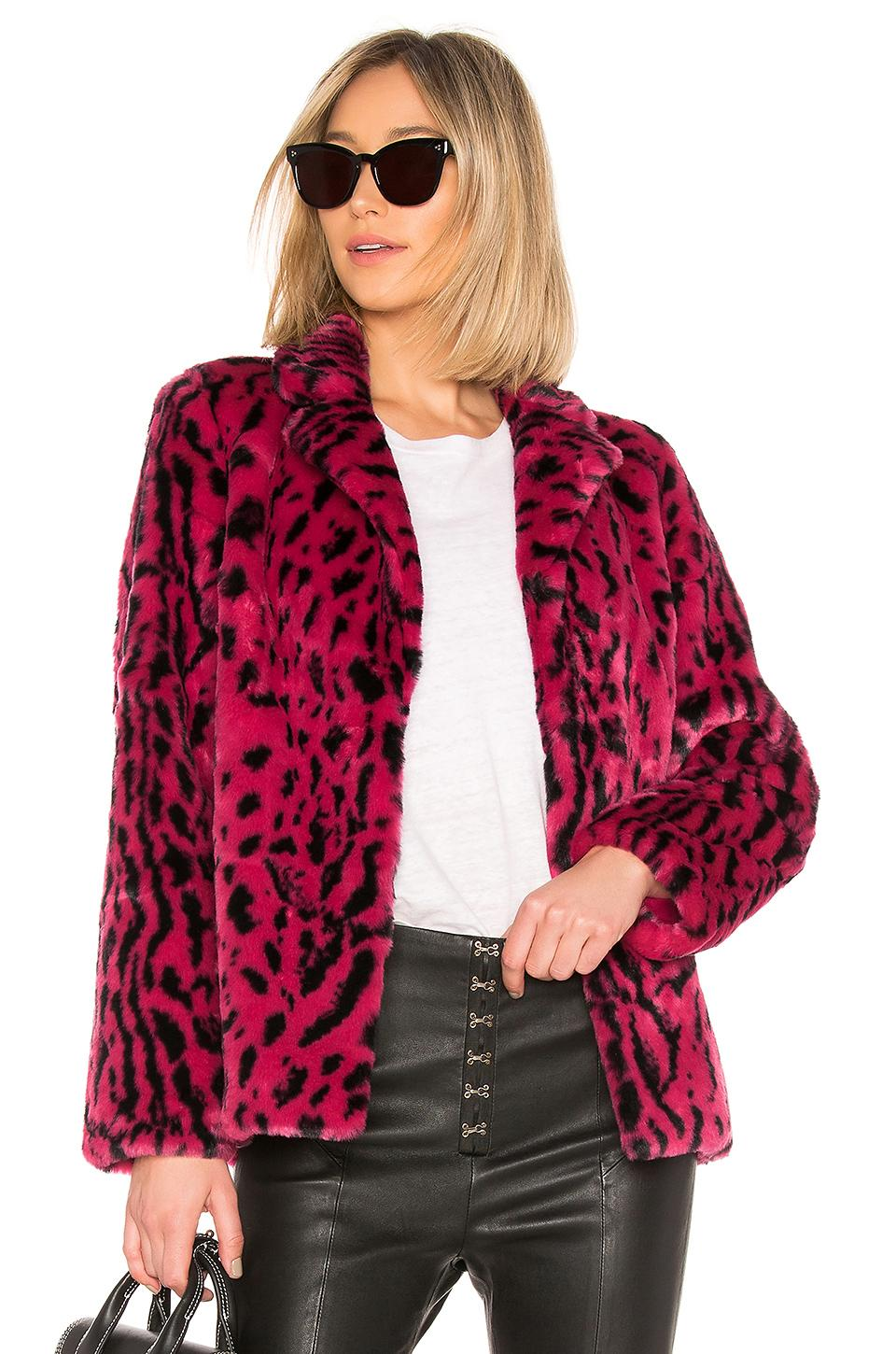 89d3d6a20ff6 House Of Harlow 1960 X Revolve Virginia Faux Fur Coat In Fuchsia ...