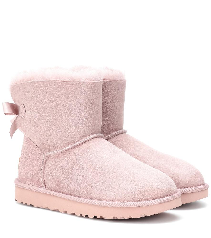 11d411b01af Mini Bailey Bow Ii Suede Boots in Pink