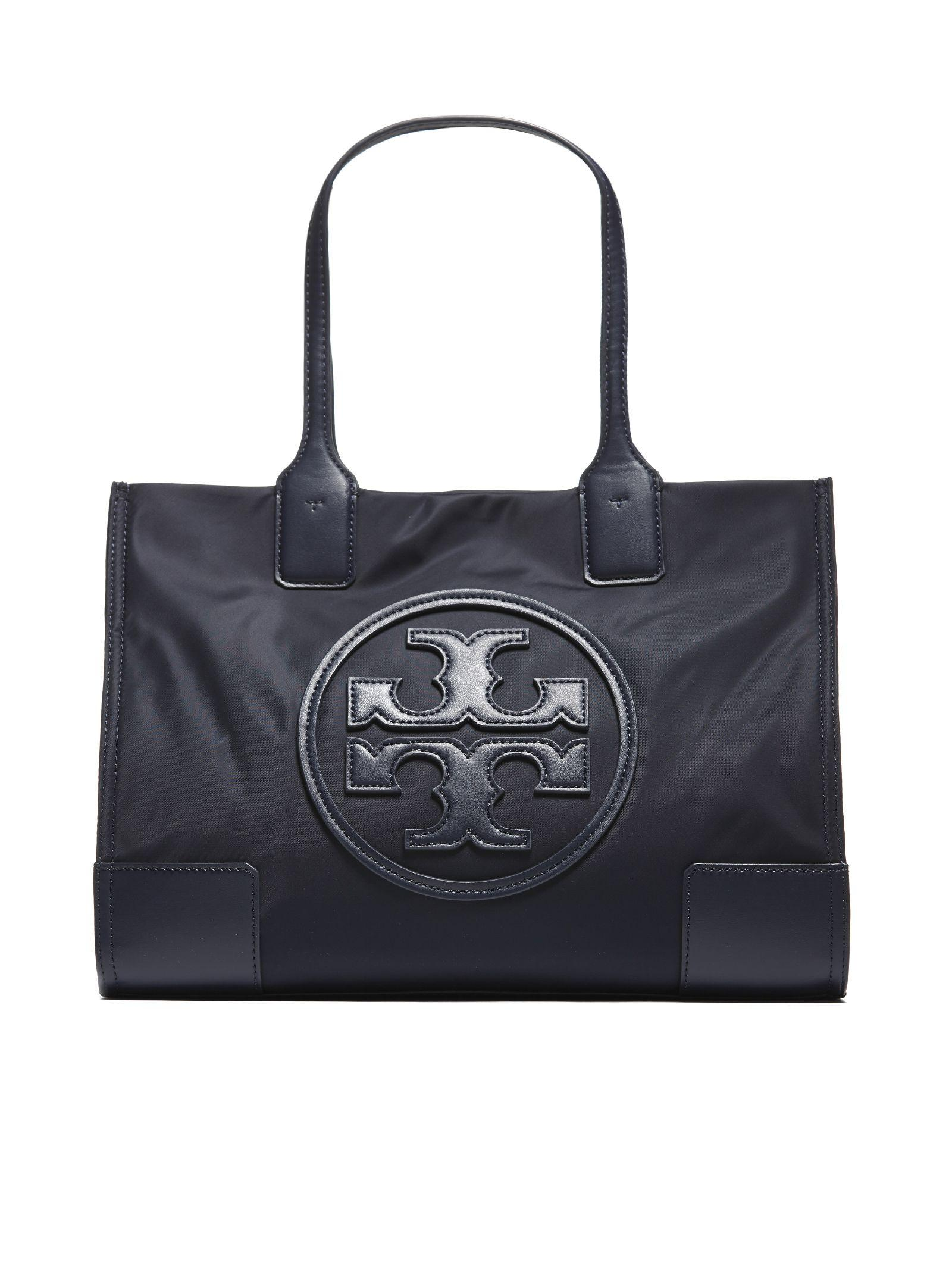 2abfcbe7c93 Tory Burch Ella Nylon   Leather Mini Tote In Black