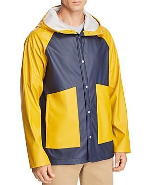 adedbcae873 Herschel Supply Co. Color-Block Classic Rain Coat In Navy Yellow ...