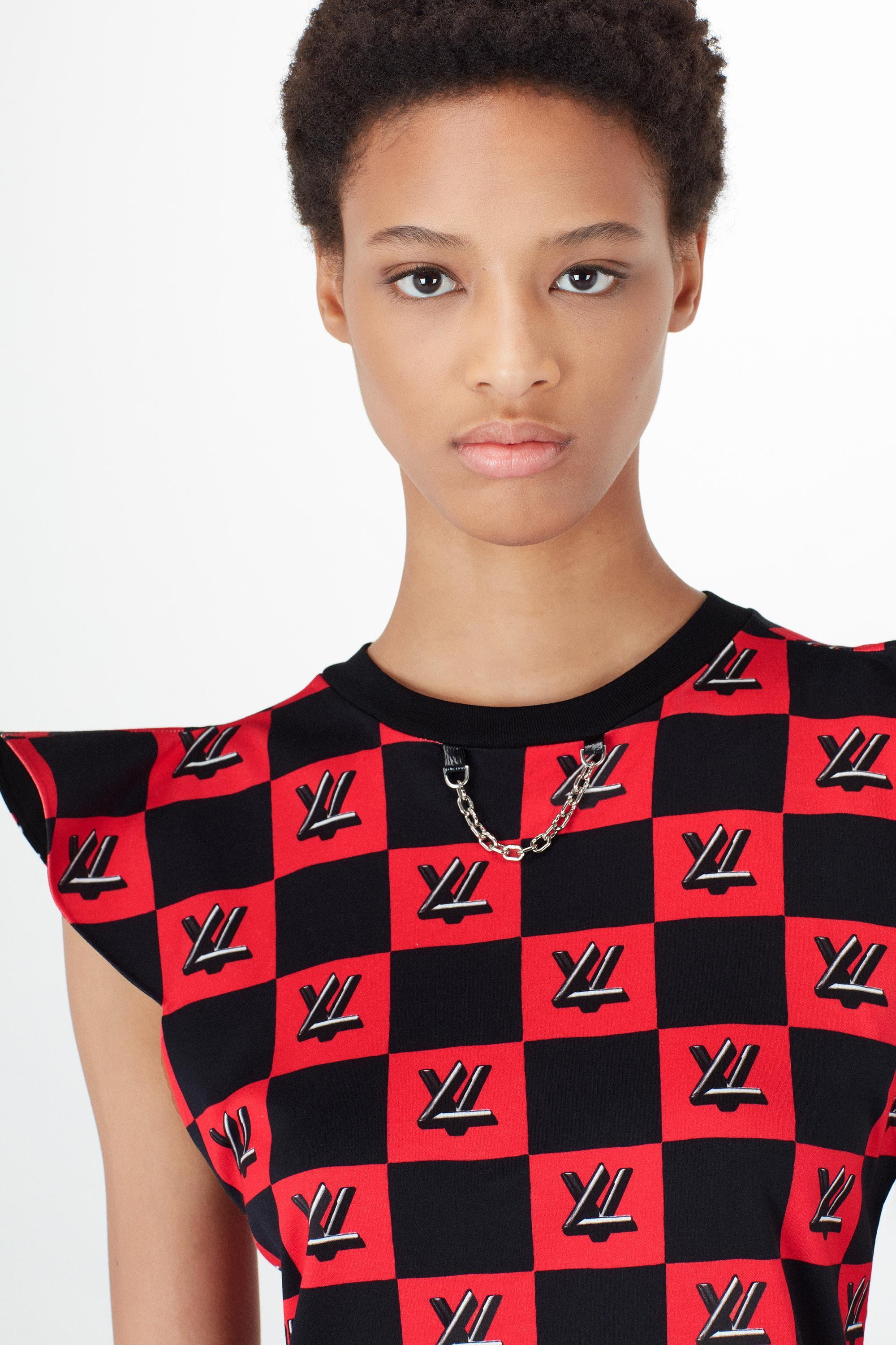 9e04a47c Louis Vuitton Lv Twist Lock Print Jersey Dress | ModeSens