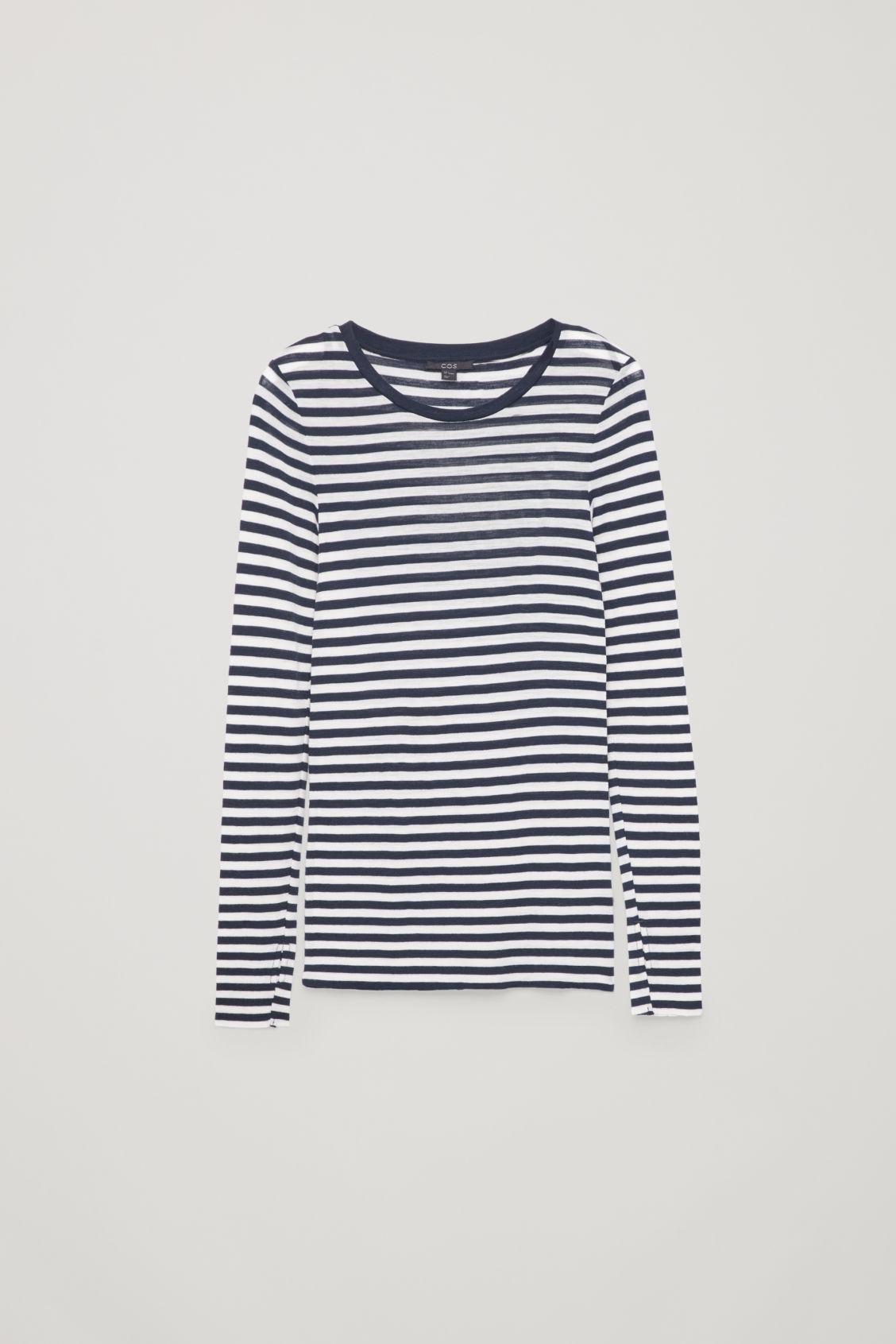 ed7ebb03d6c36 Cos Sheer Wool Long-Sleeved Top In Blue