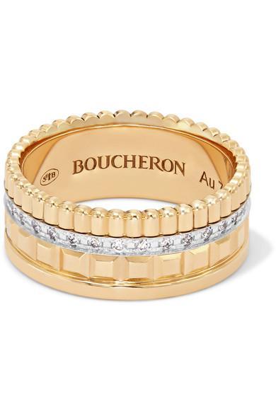 ba738838f632f Quatre Radiant Edition Small 18-Karat Gold Diamond Ring