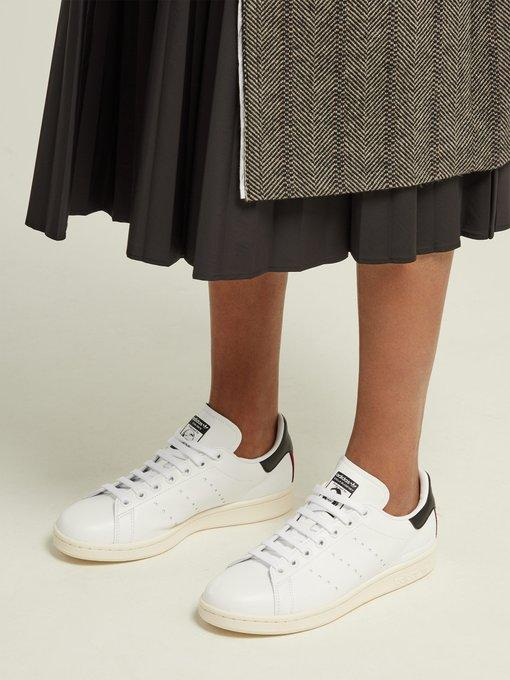 581ef61bf335 Stella Mccartney Adidas Originals Stan Smith Grosgrain-Trimmed Faux Leather  Sneakers In White