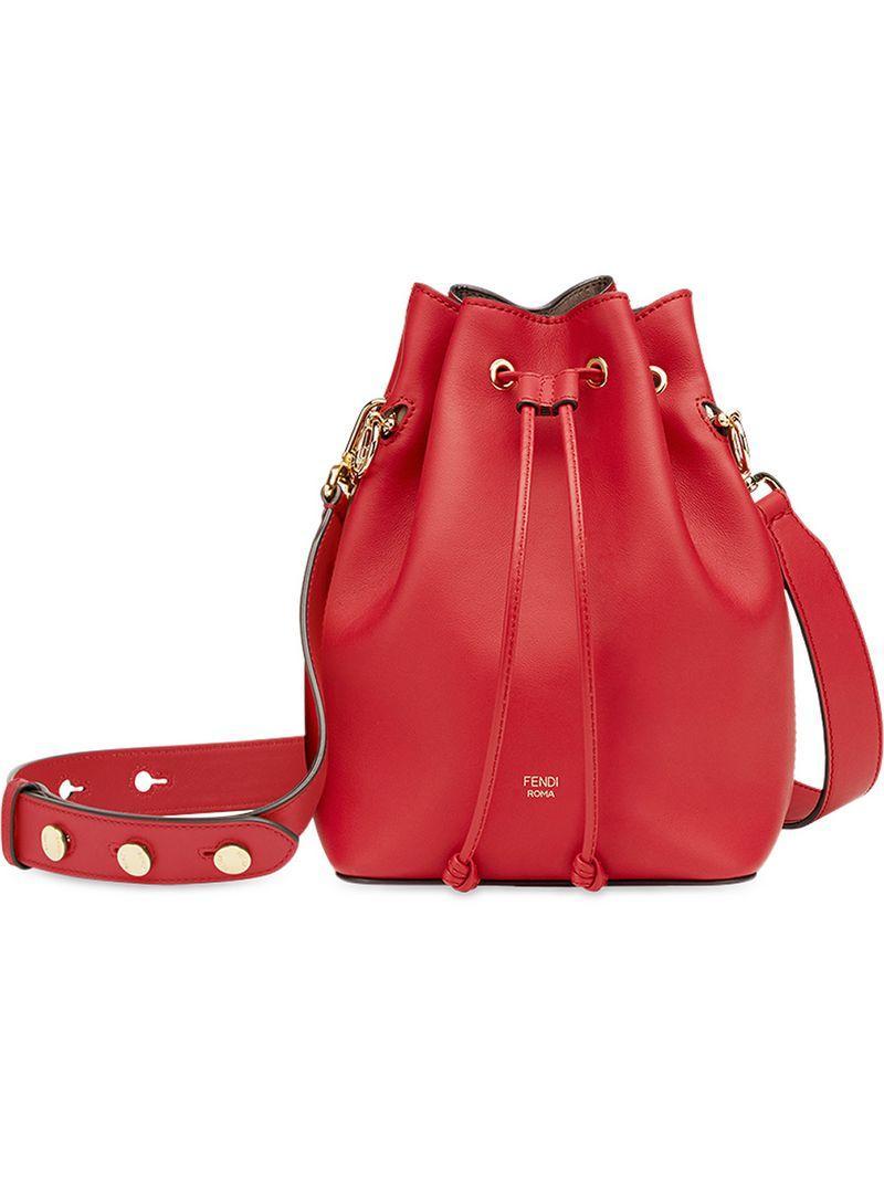 ee87ffff4880 Fendi Mon Tresor Bucket Bag - Red