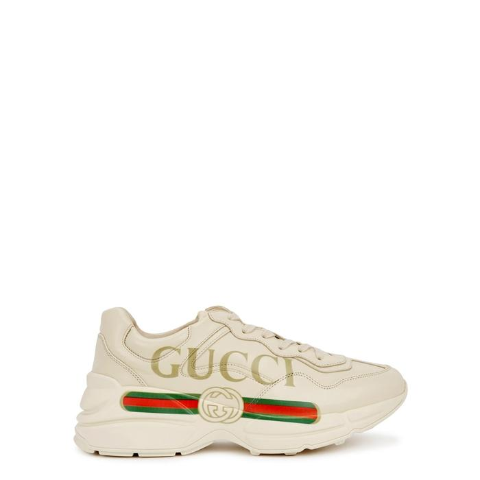 dd48d13d356 Gucci Men s Shoes Leather Trainers Sneakers Rhyton In White