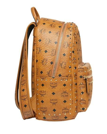 ee202236e1bb Mcm Stark Outline Studs Convertible Visetos Backpack In Cognac ...