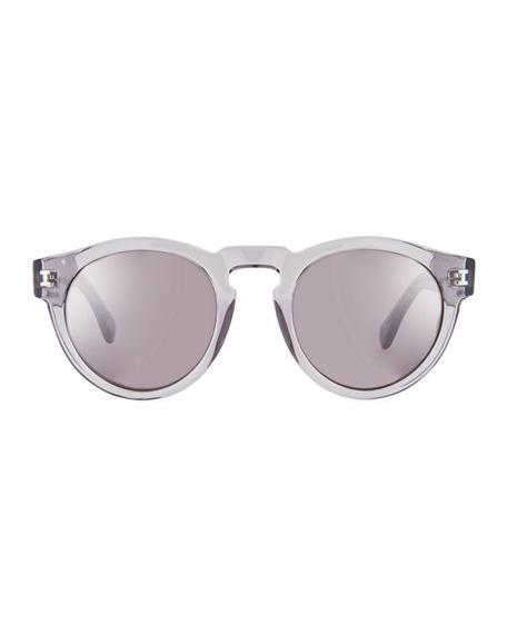 7db78b7e27b Illesteva Leonard Slim-Fit Round Mirrored Sunglasses In Gray