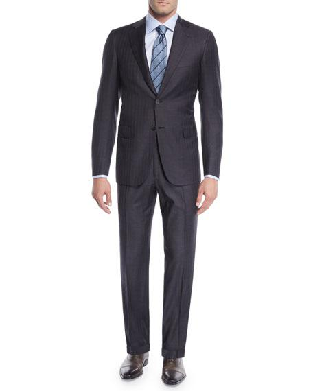 Brioni Men's Striped Two-Piece Wool Suit In Gray