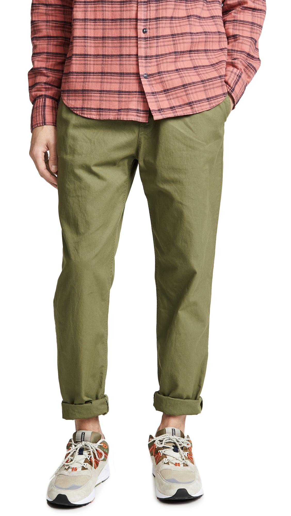 fast delivery soft and light offer discounts Light Twill Easy Chino Pants in Olive Drab