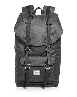 59f0e8d7e93 Herschel Supply Co. Little America Backpack - Black In Black Crosshatch   Black Rubber