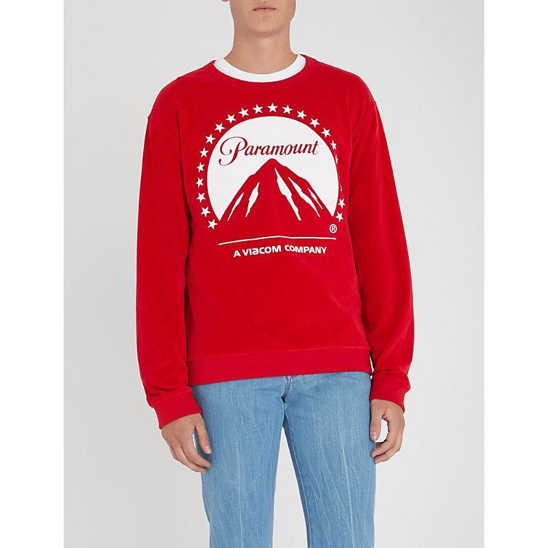 184cae5874b Gucci Printed Cotton-Blend Velvet Sweatshirt - Red