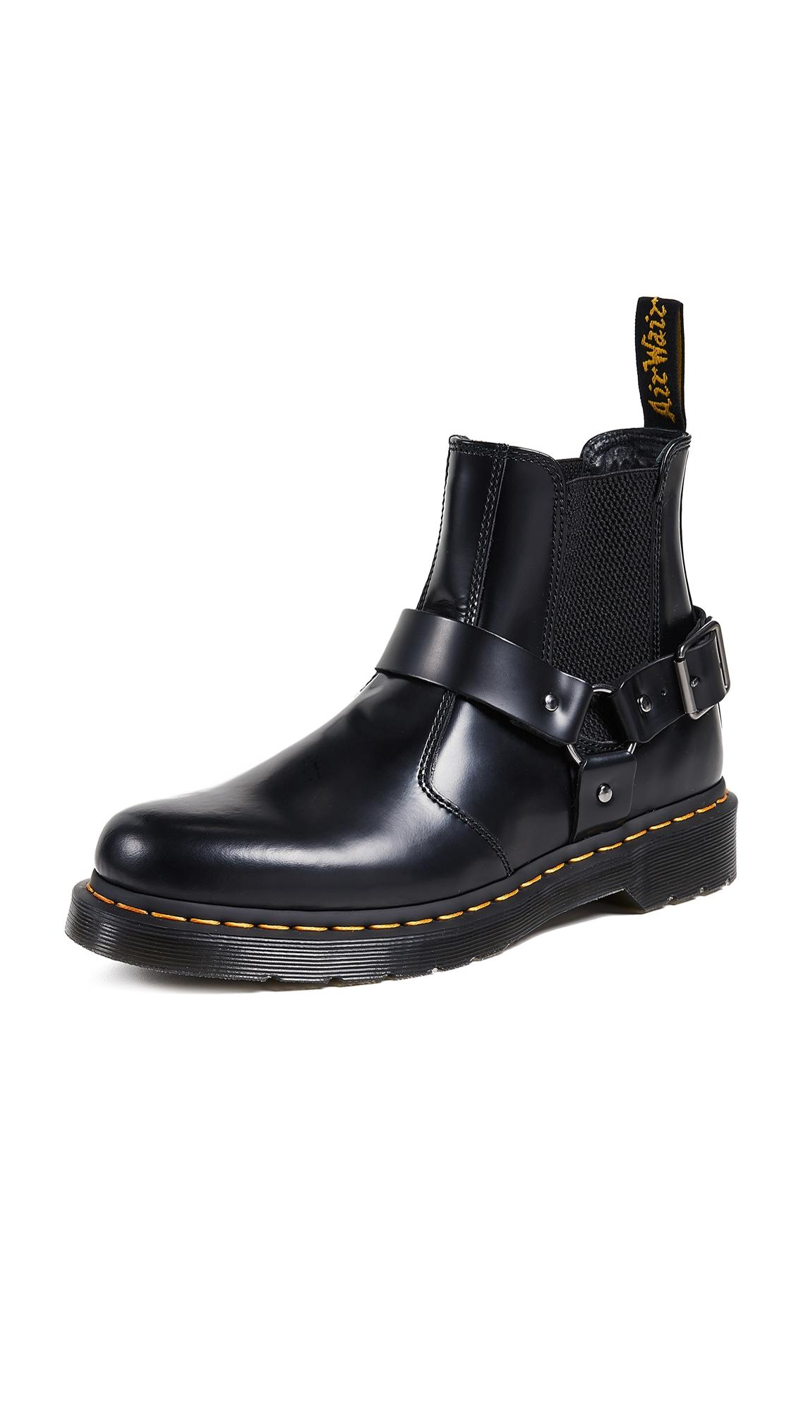DamenHerren 8053 QUAD BLACK POLISHED SMOOTH | Dr. Martens Halbschuhe ⋆ Delanjiplush