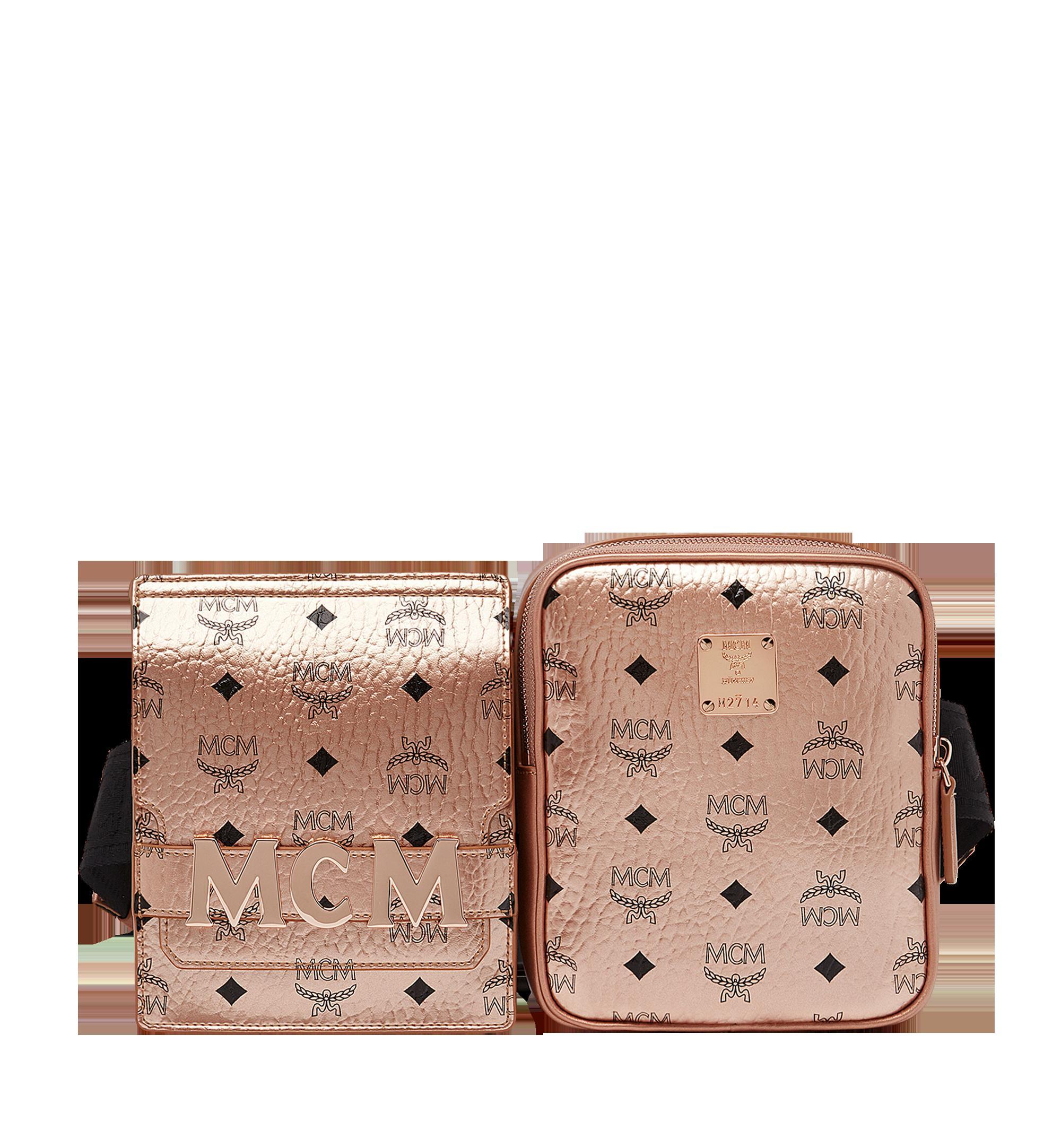 d84a9bc9cdde Mcm Stark Canvas Double Belt Bag - Metallic In Tc