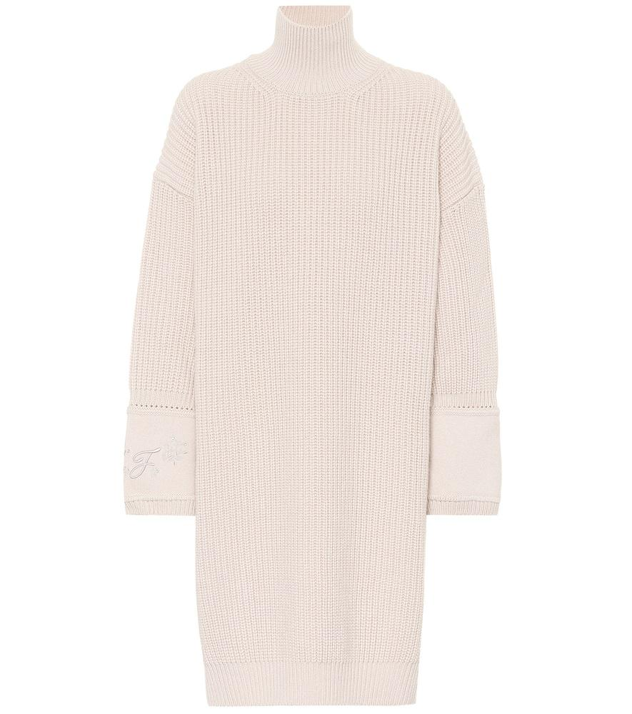 3c8128ae808 Fendi Cashmere Sweater-Dress In Pink